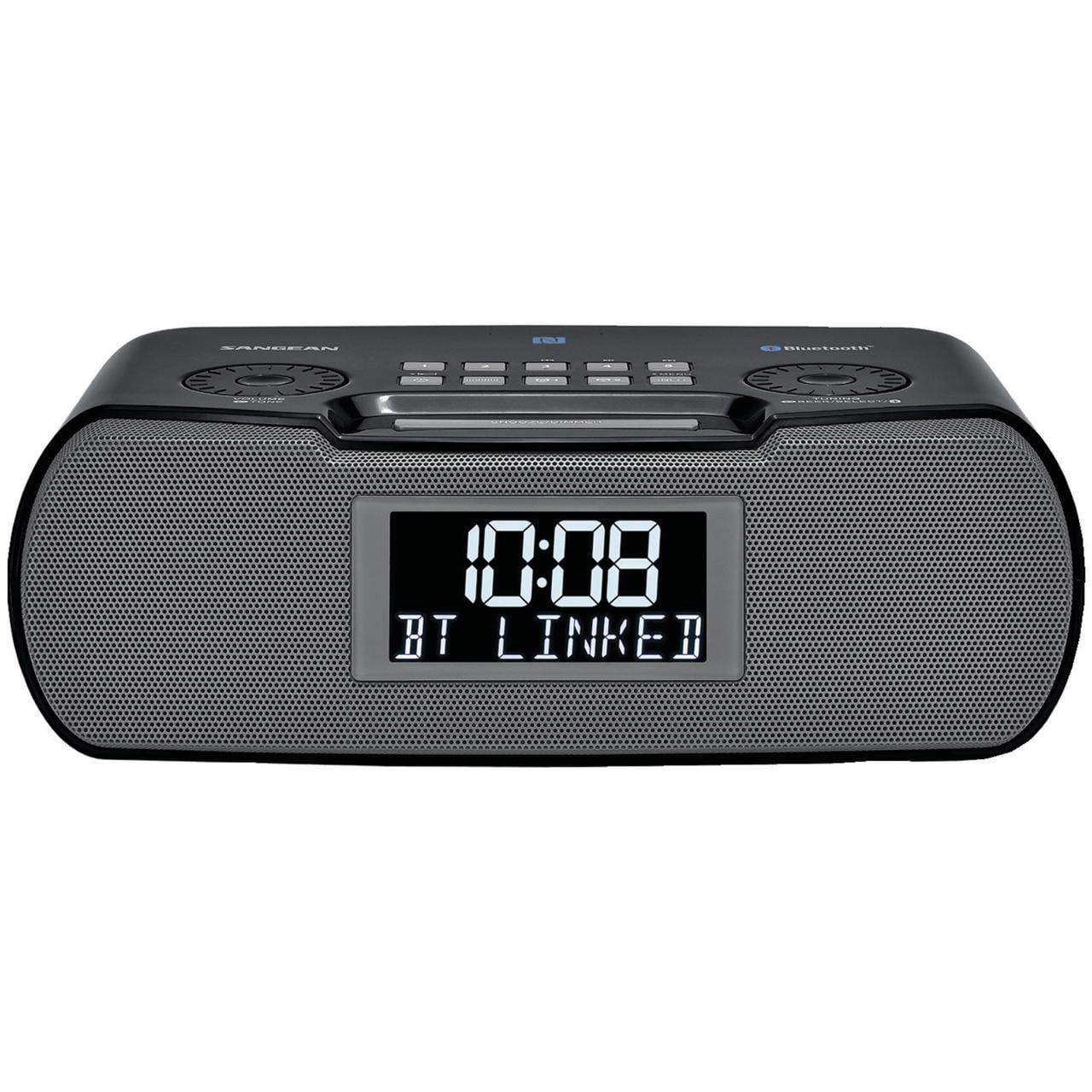 Sangean RCR-20 Digital AM FM-RDS Bluetooth Clock Radio with USB Charger by Sangean