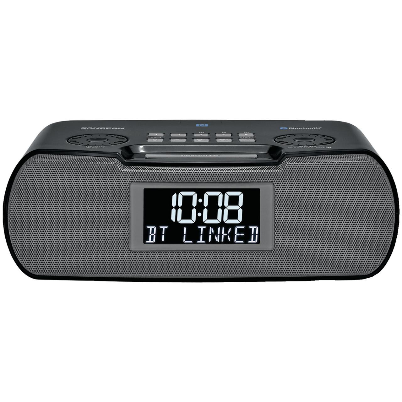Sangean RCR-20 Digital AM/FM-RDS/Bluetooth Clock Radio with USB Charger