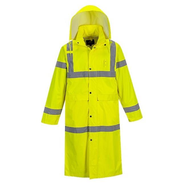 Portwest UH445 48 in. Regular Hi-Visibility Classic Contrast Raincoat, Yellow - 4XL - image 1 de 1