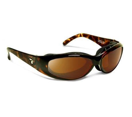 Image of 7 Eye Air Shield Chubasco Sunglasses, SharpView Copper Lens, Dark Tortoise Frame,S
