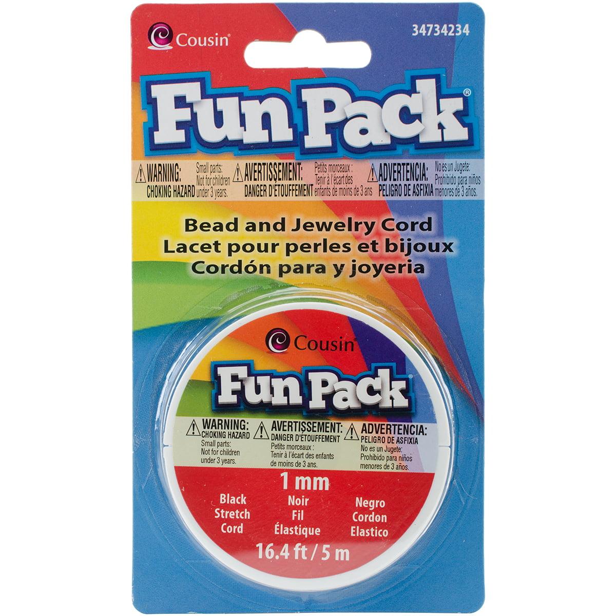 Fun Pack Stretch Cord Spool 1mm 16.4'/Pkg-Black