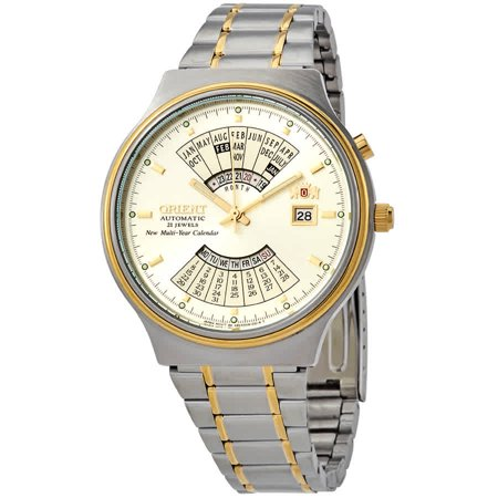 Orient Perpetual Calendar World Time Automatic Gold Dial Men's Watch