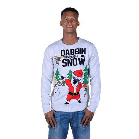 Gay Christmas Sweaters (RWB Unisex Santa Dabbin Through The Snow Ugly Christmas Sweater)