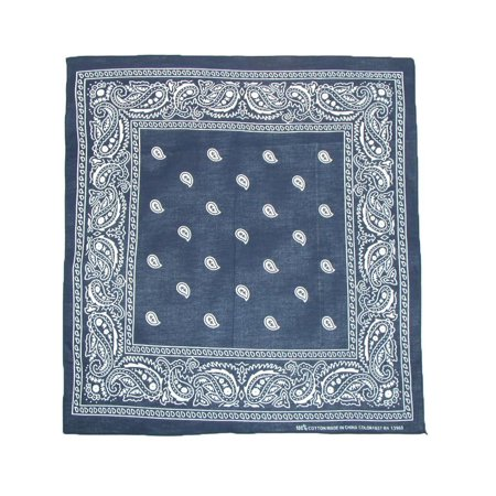 Cotton Paisley All-Purpose Bandanas (Pack of 5 of Same Color)](Red Pirate Bandana)