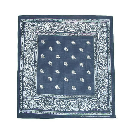 Cotton Paisley All-Purpose Bandanas (Pack of 5 of Same Color) (Cowboy Red Bandana)