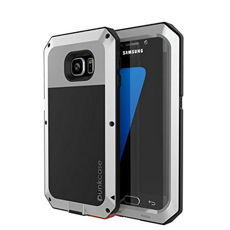 the latest 358fb 84b0c Galaxy S7 EDGE Case, PUNKcase Metallic Silver w/ Shockproof Dirt-proof  Snow-proof Slim Metal Cover Armor Case Samsung S7 EDGE