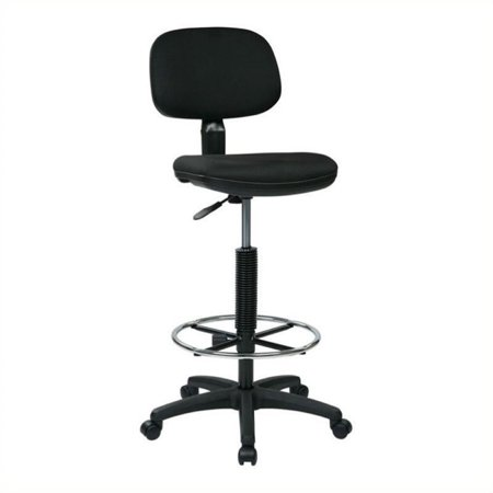 Scranton & Co Sculptured Back Drafting Chair in Black
