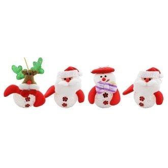 "Three Star Christmas Tree Light Up Ornament, Set Of 4 Pieces, 5"" Each"