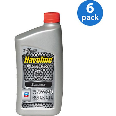 Chevron havoline 5w30 synthetic motor oil 1 qt 6 pack for What is synthetic motor oil made out of
