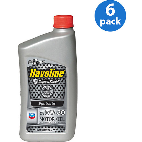Chevron Havoline 5W30 Synthetic Motor Oil, 1 qt, 6-pack