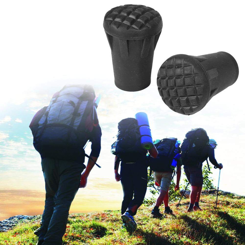 Fdit 6 Pcs Set Trek Pole Tip Protectors Rubber Trekking Poles Black Tips Accessories & Replacements for Trekking Pole... by