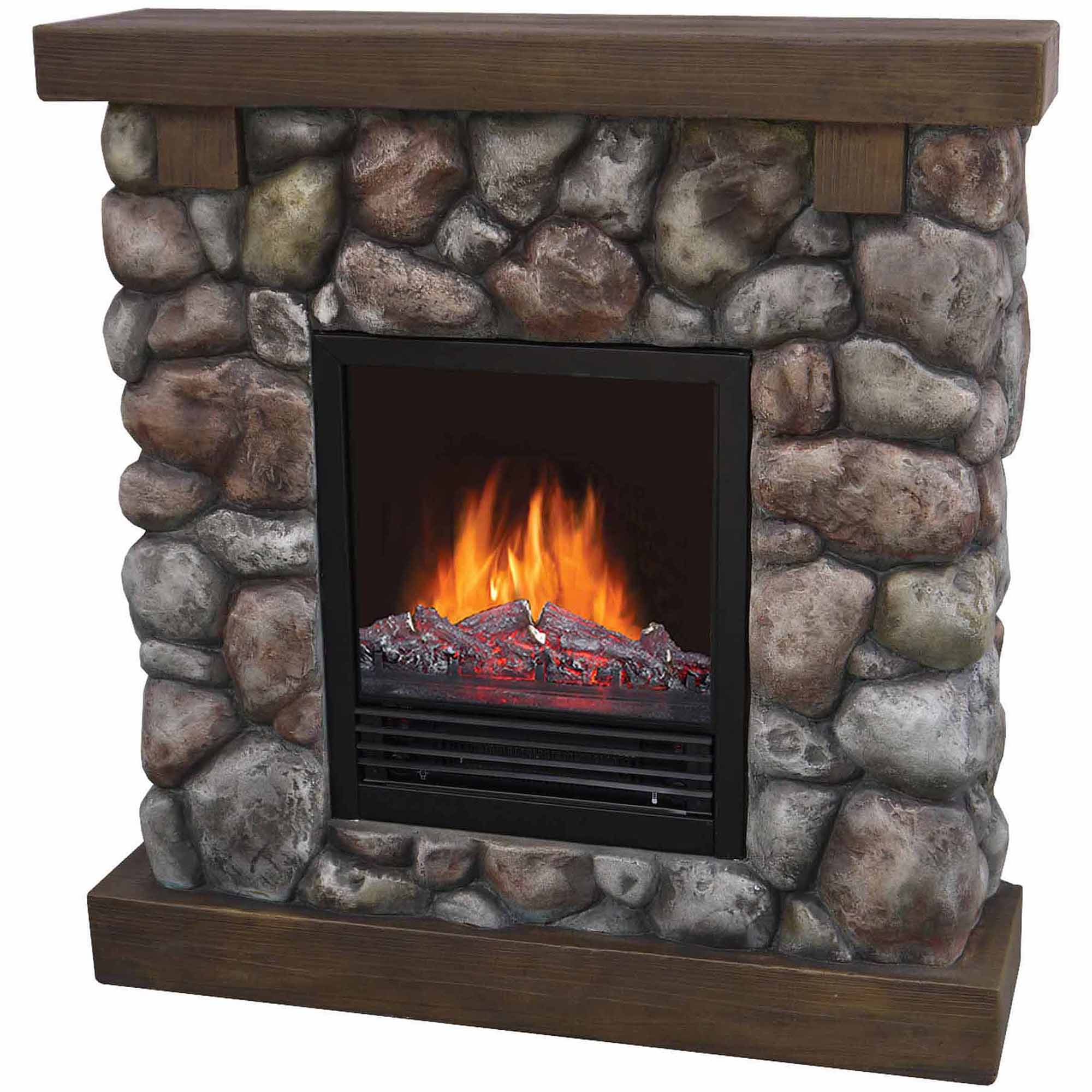 Quality craft electric fireplace - 37 Polyfiber Electric Fireplace River Blue