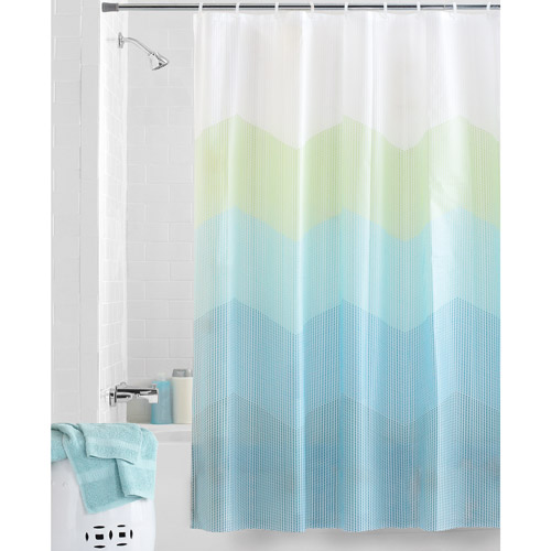 Superb Mainstays Zig Zag Dots Peva Shower Curtain