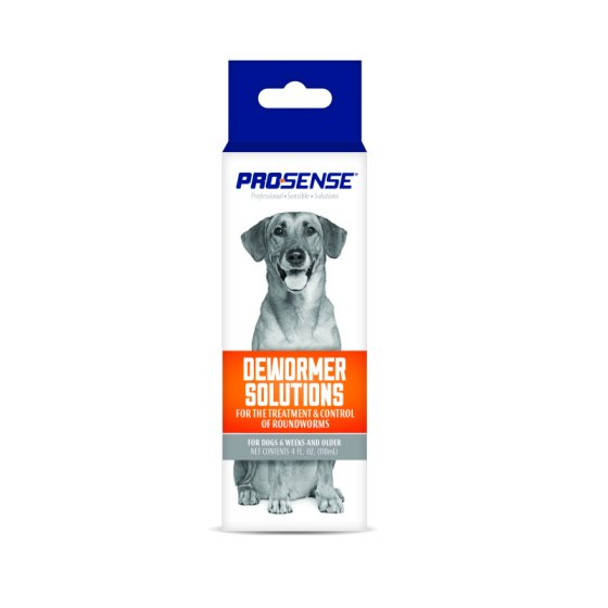 Pro Sense Dewormer Solutions For Dogs 4 Oz Liquid Roundworm