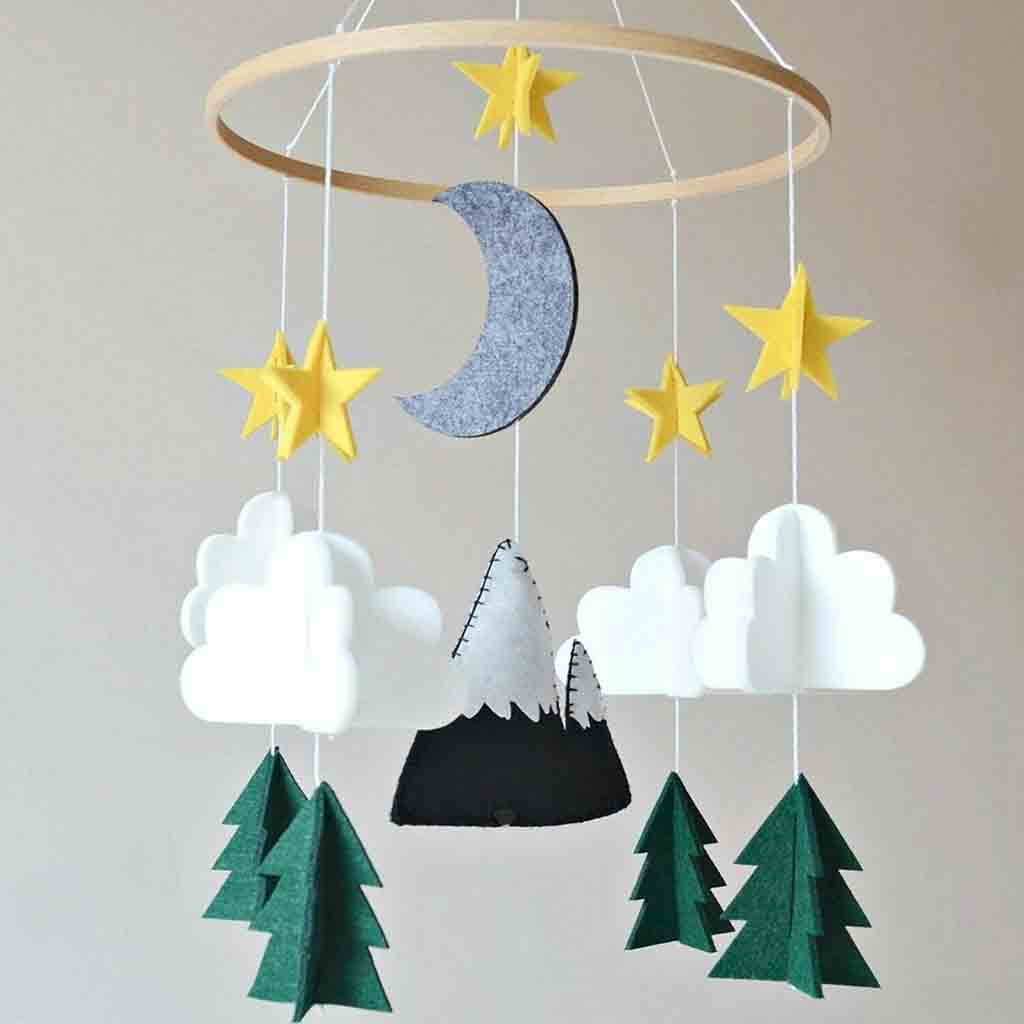 Outtop Boys Girls Baby Crib Mobile Woodland Night Nursery Mobile Decoration Felt by Outtop