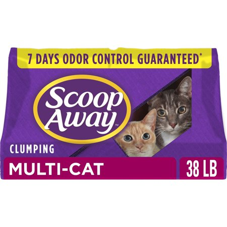 Scoop Away Multi-Cat Clumping Cat Litter, Scented, 38 Pounds