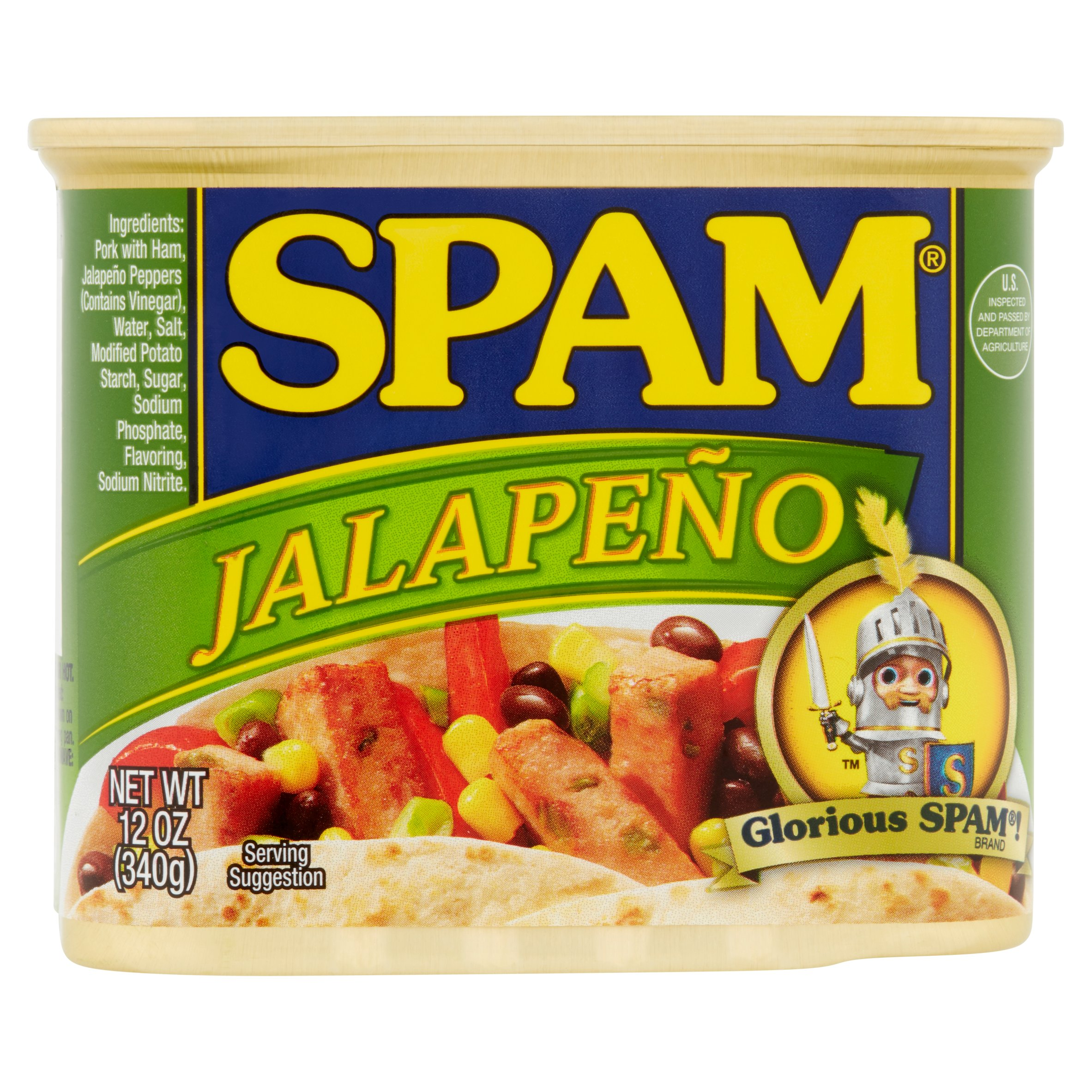 Spam Jalapeno Canned Meat 12 oz. Pull-Top Can by Hormel Foods Corporation
