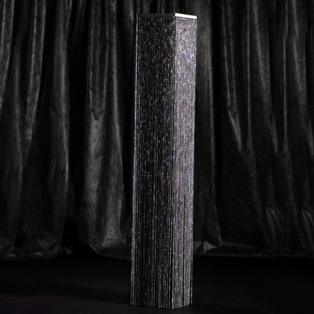 Overlay Crystal (8 ft. Black Crystal Overlay Square Column)