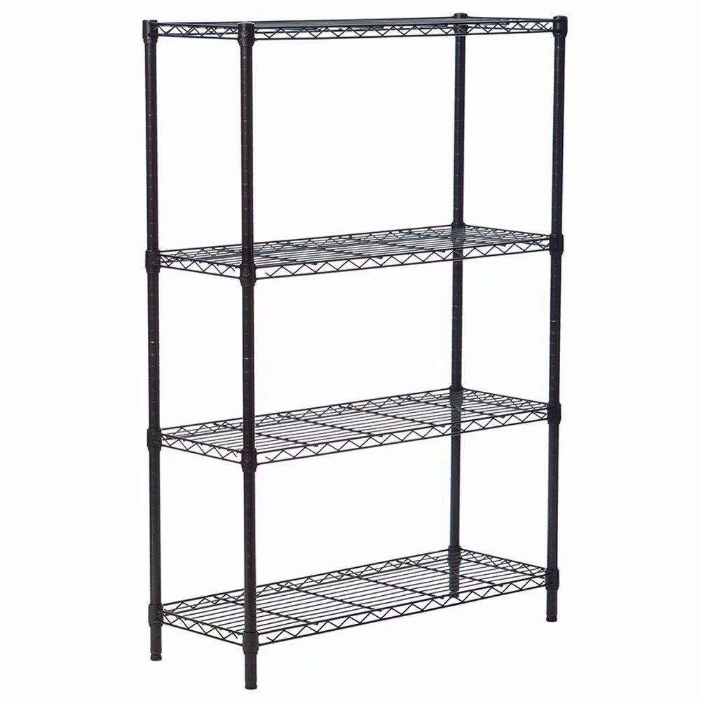 4-Layer Plastic Coated Iron Shelf 140*90*35 Black