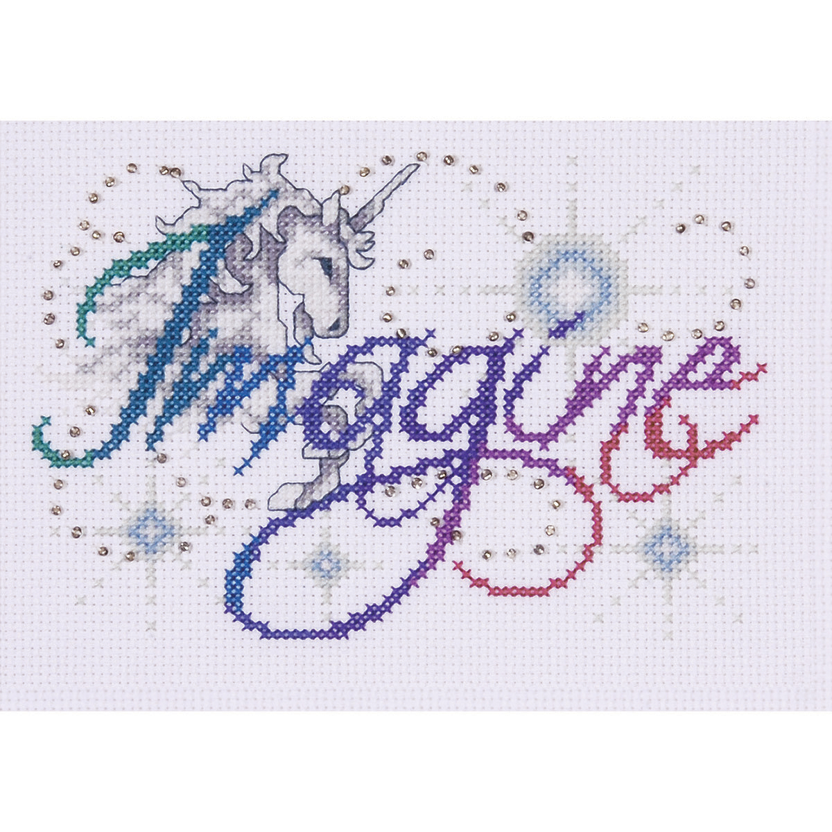 "Imagine Counted Cross Stitch Kit-5""X7"" 14 Count"