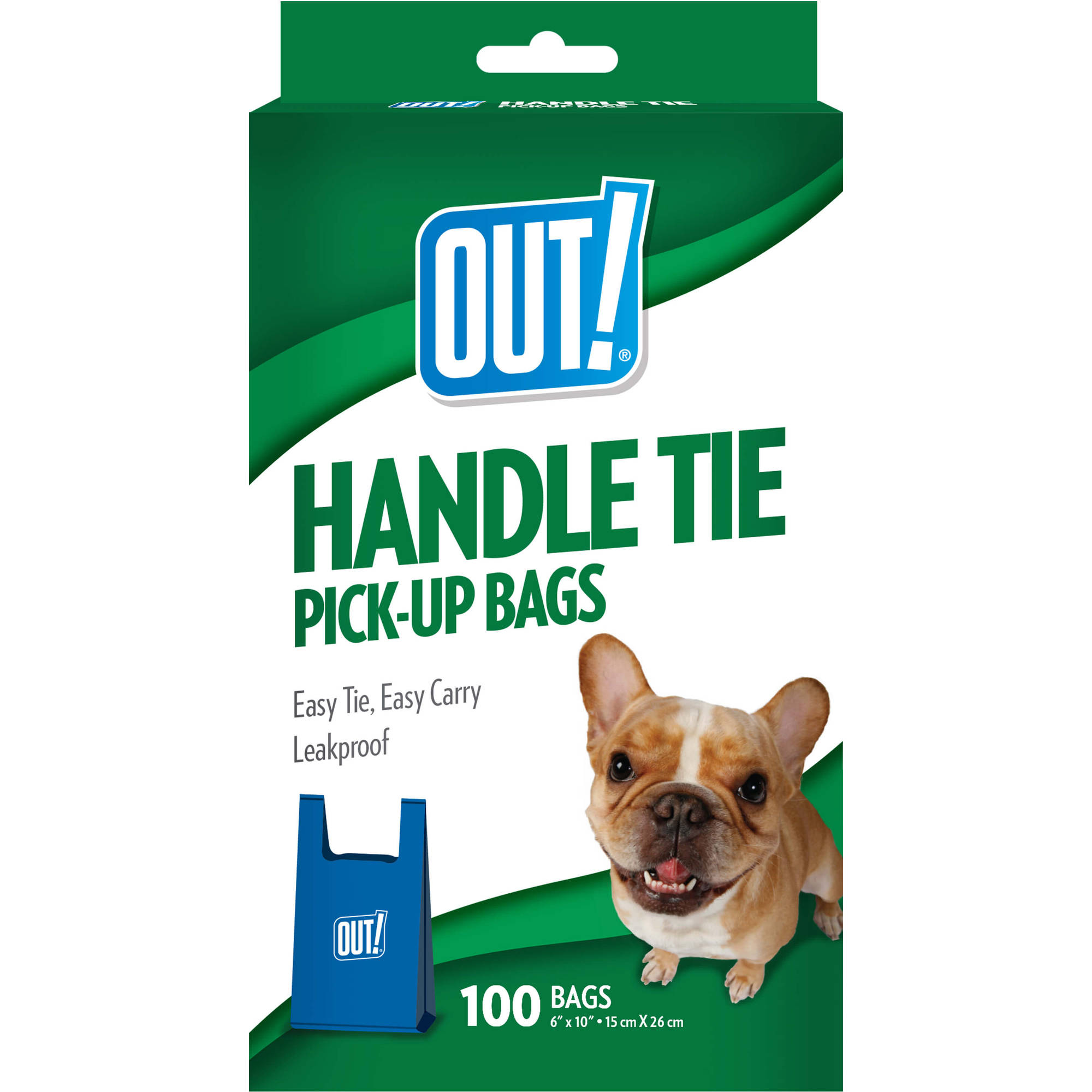 OUT! Handle Tie Dog Waste Bags, 100ct