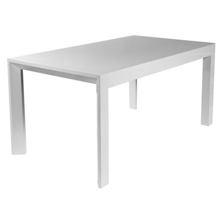 Style Lacquer - Euro Style Adara White Lacquer Dining Table