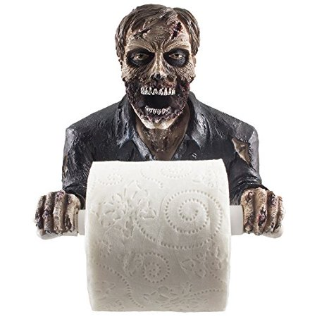 The Undead Graveyard Zombie Decorative Toilet Paper Holder in Scary ...