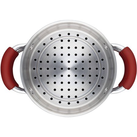 Rachael Ray Cucina Hard Porcelain Enamel Nonstick 3-Qt Covered Multi-Pot Set with Steamer