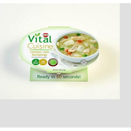 7 PACKS : Hormel Health Labs Vital Cuisine, Chicken and Dumplings, 7.5 Ounce
