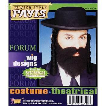JEWISH STYLE PAYIS-BLACK - Jewish Halloween