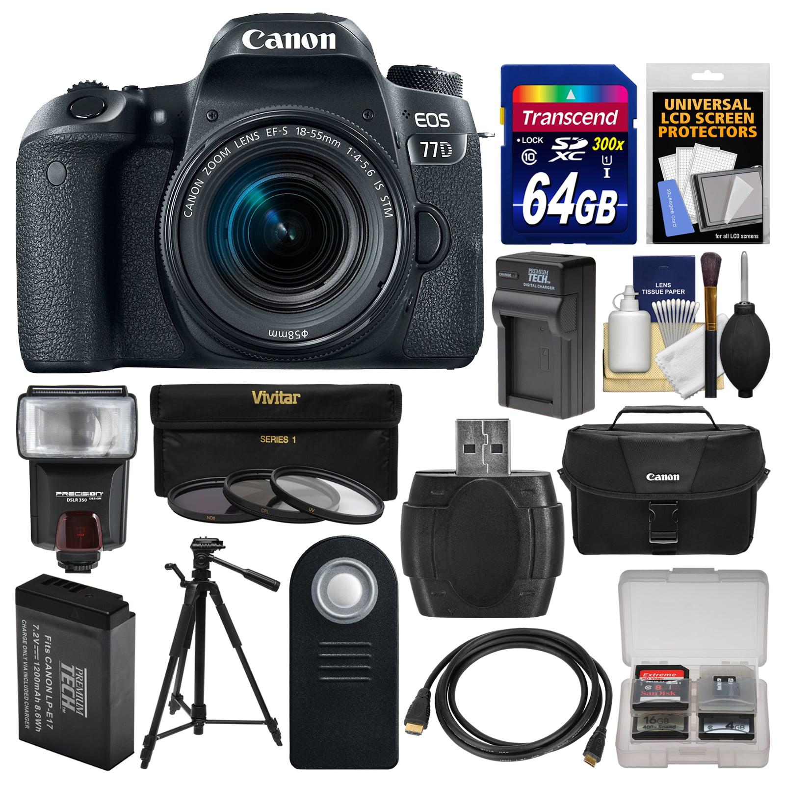 Canon EOS 77D Wi-Fi Digital SLR Camera & EF-S 18-55mm IS ...