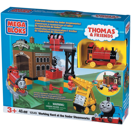 Thomas & Friends Working Hard at the Sodor Steamworks Set Mega Bloks 10549