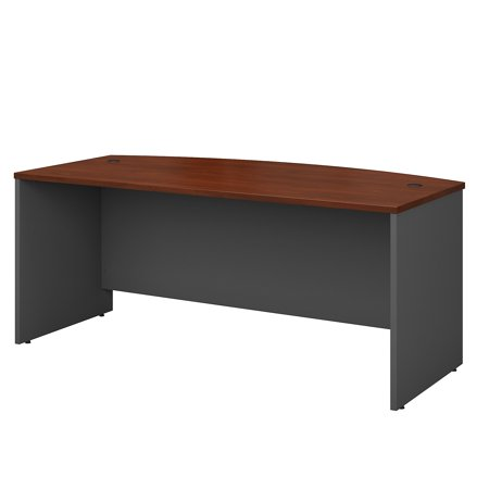 Zuma Bow Front Desk (Office Furniture Series C Classic Shell Desk Design 200 lbs Weight Capacity 72 W Bow Front Desk)