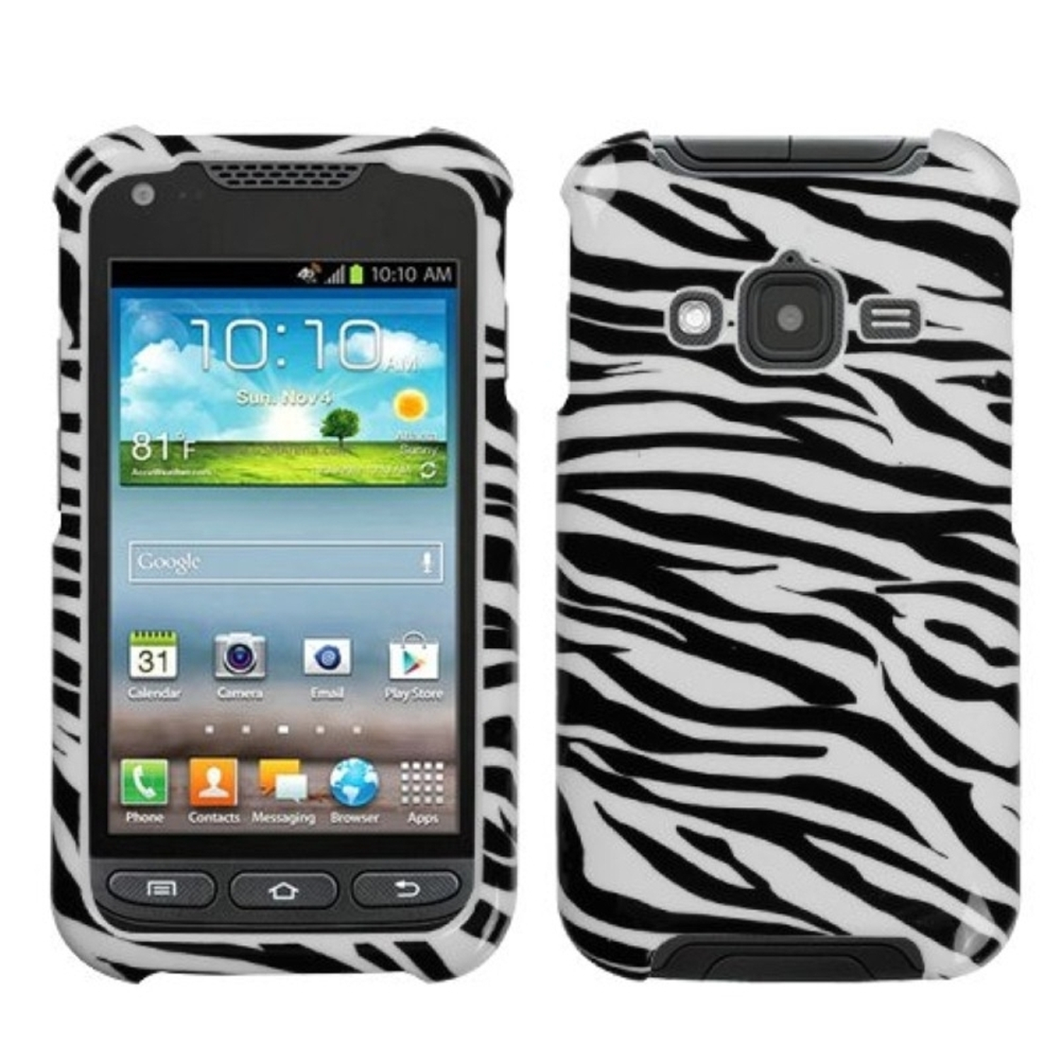 Insten Zebra Skin Phone Case for SAMSUNG: i547 (Galaxy Rugby Pro)