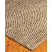 NaturalAreaRugs Petra Wool Rug, Hand Woven, Soft & Thick, Taupe, 6' x 9'