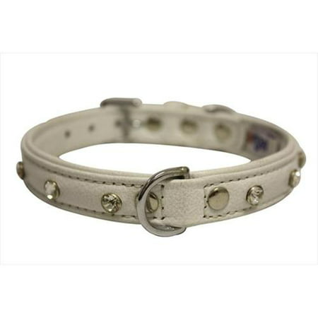Angel Pet Supplies 41114 Athens Rhinestone Dog Collar in Ivory White