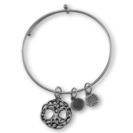 - Celtic `Tree of Life` Silver Plated Expandable Charm Bracelet