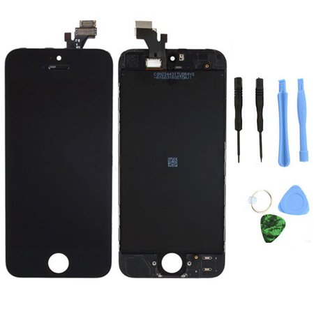 TekDeals Black LCD Display+Touch Screen Digitizer Assembly Replacement for iPhone 5 5G (Digitizer Assembly Replacement)