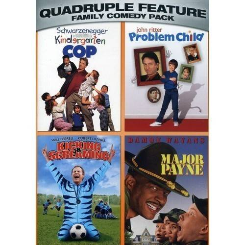Family Comedy Pack Quadruple Feature: Kindergarten Cop / Problem Child / Kicking & Screaming / Major Payne (Widescreen)