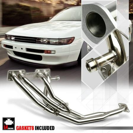 SS Tri-Y Exhaust Header Manifold for 89-94 Nissan 240SX S13 Silvia 2.4 KA24 SOHC 90 91 92 93