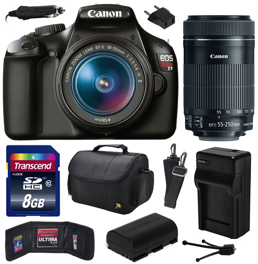 Canon EOS Rebel T3  Digital SLR Camera with EF-S 18-55mm ...