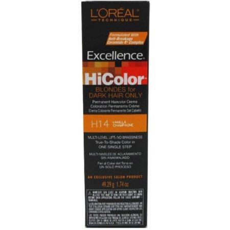 Excellency Champagne Glass - L'Oreal Excellence HiColor Vanilla Champagne, 1.74 oz