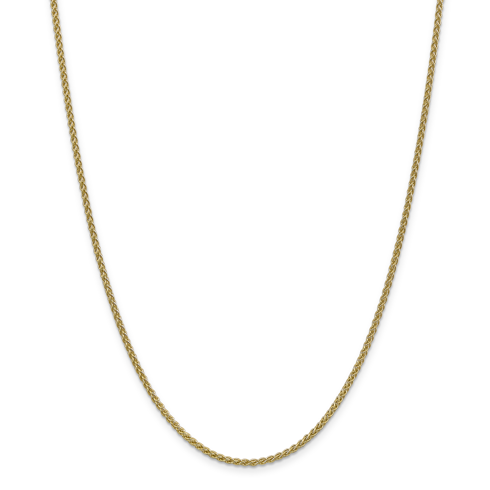 14k Yellow Gold 2mm Spiga Chain Necklace 30 Inch Pendant Charm Wheat Fine Jewelry Gifts For Women For Her - image 5 of 5