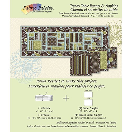 Fabric Editions Fabric Editions Design Sheet, Trendy Neutral Table runner Multi-Colored
