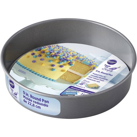 Wilton Treats Made Simple Non-Stick Cake Pan, Round, 9 (Roll In Pan Cart)