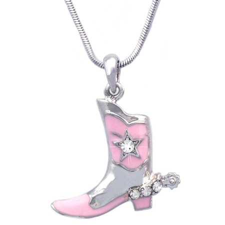 cocojewelry Western Cowboy Cowgirl Boot Star Spur Pendant Necklace