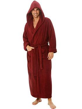 Product Image Heavy Mens 3.5lb Burgundy Hooded Terry Cloth Bathrobe. XXL  Full Length 100% Turkish f67bbf3e5