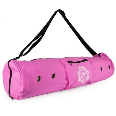 Peace Yoga Air Vent Mat Bag Pink Lotus