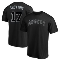"Shohei Ohtani ""Showtime"" Los Angeles Angels Majestic Youth 2019 Players' Weekend Name & Number T-Shirt - Black"