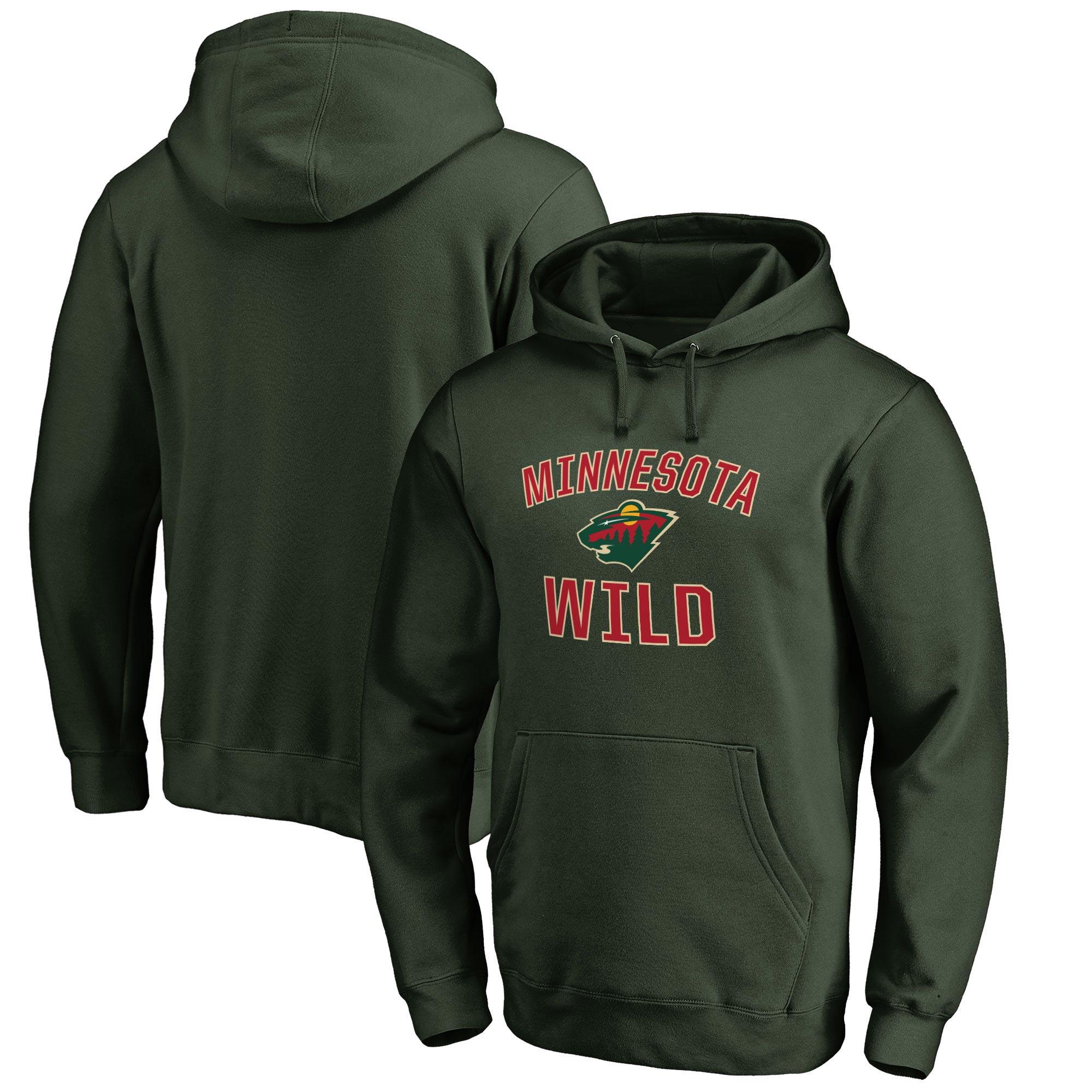 Minnesota Wild Victory Arch Fleece Pullover Hoodie - Green